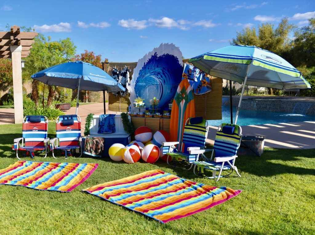 Surfing Party Ideas for a boys pool party birthday