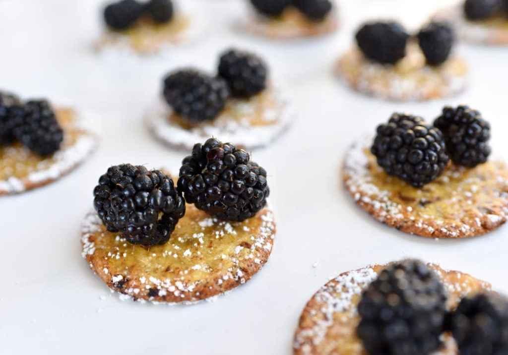 Lemon blackberry cranberry crackers appetizer by Make Life Lovely