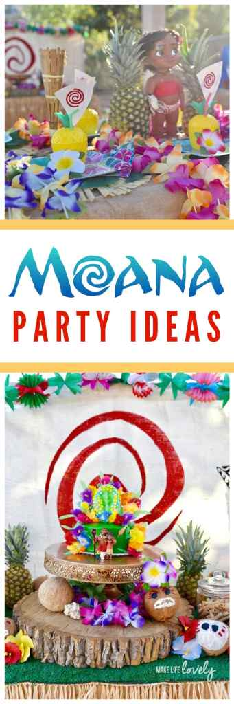 Moana birthday party ideas that are SO fun and creative!