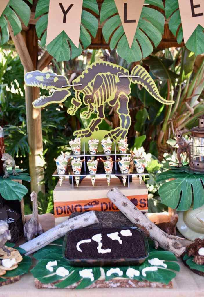 Amazing dinosaur party and dinosaur dig with lots of incredible dino details!