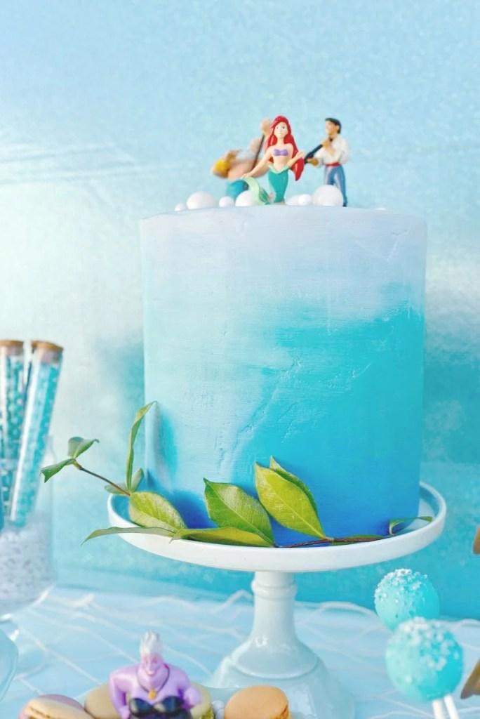Disney Little Mermaid party cake