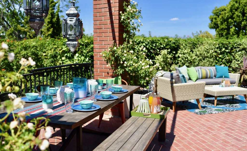 Lance Bass Los Angeles home patio makeover