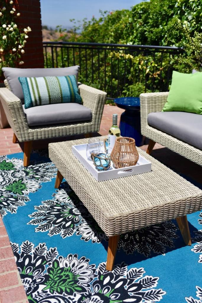 Summer patio makeover outdoors with Lance Bass and World Market