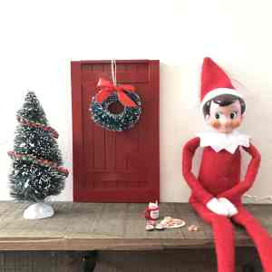 Elf on the Shelf Door Tutorial + $100 Miniatures.com Giveaway!