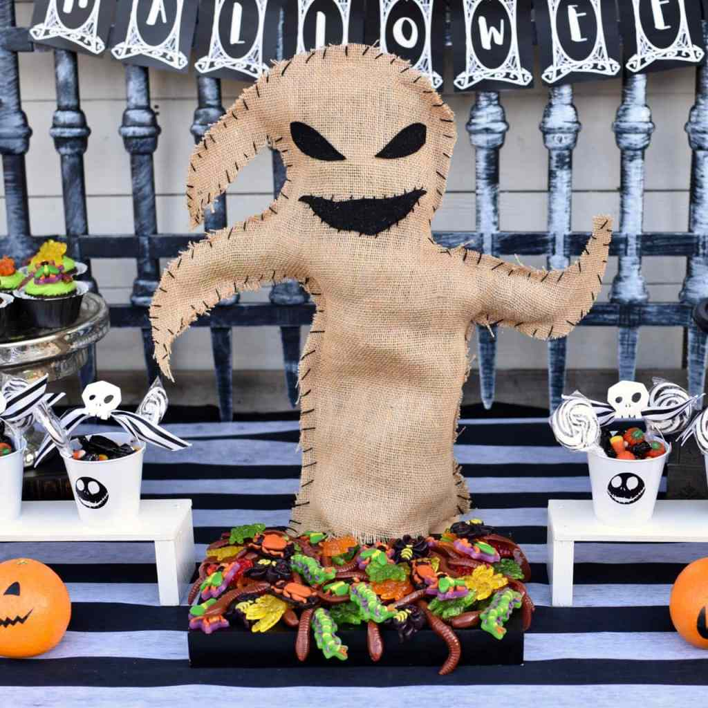 Nightmare Before Christmas Halloween party Oogie Boogie bugs square