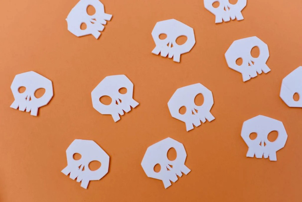 Nightmare Before Christmas party favors with skulls
