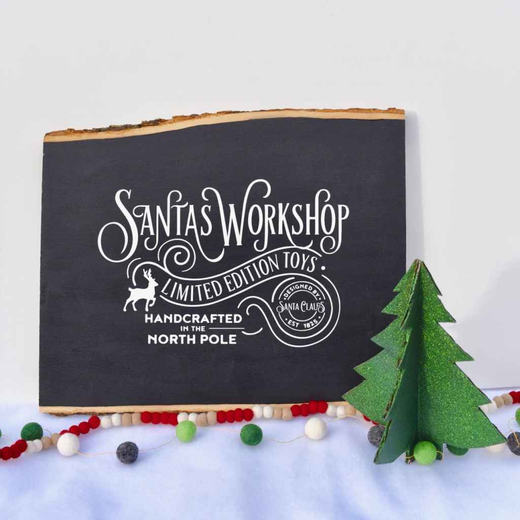 Christmas chalkboard sign holiday craft