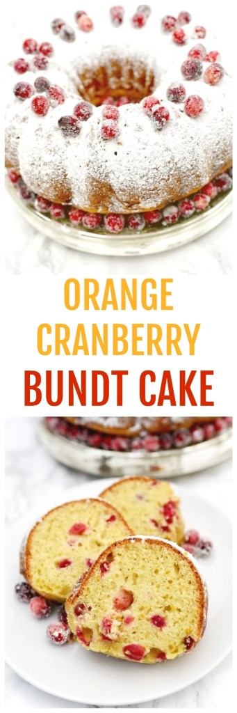 Orange cranberry bundt cake recipe