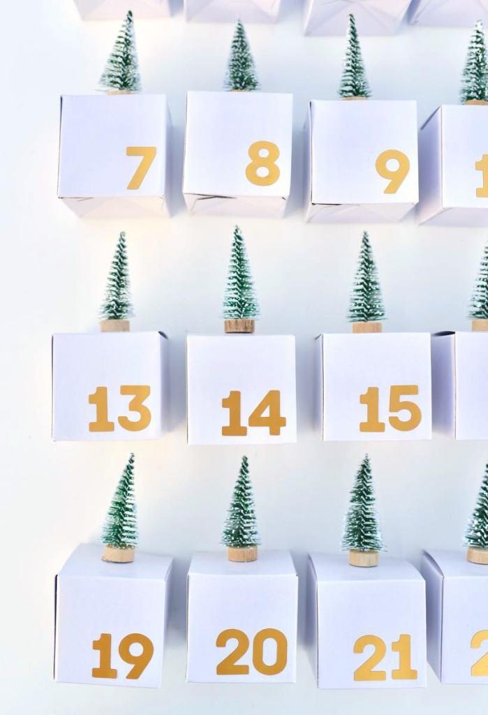 Advent calendar boxes for Christmas