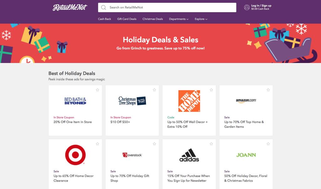RetailMeNot Holiday Deals