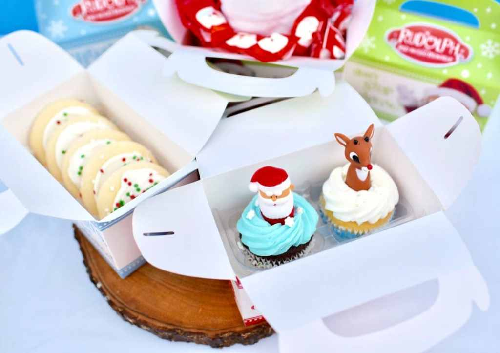 Rudolph the Red-Nosed Reindeer party favor boxes