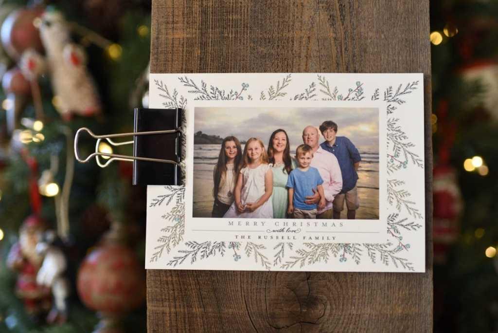 Simple rustic DIY Christmas card holder