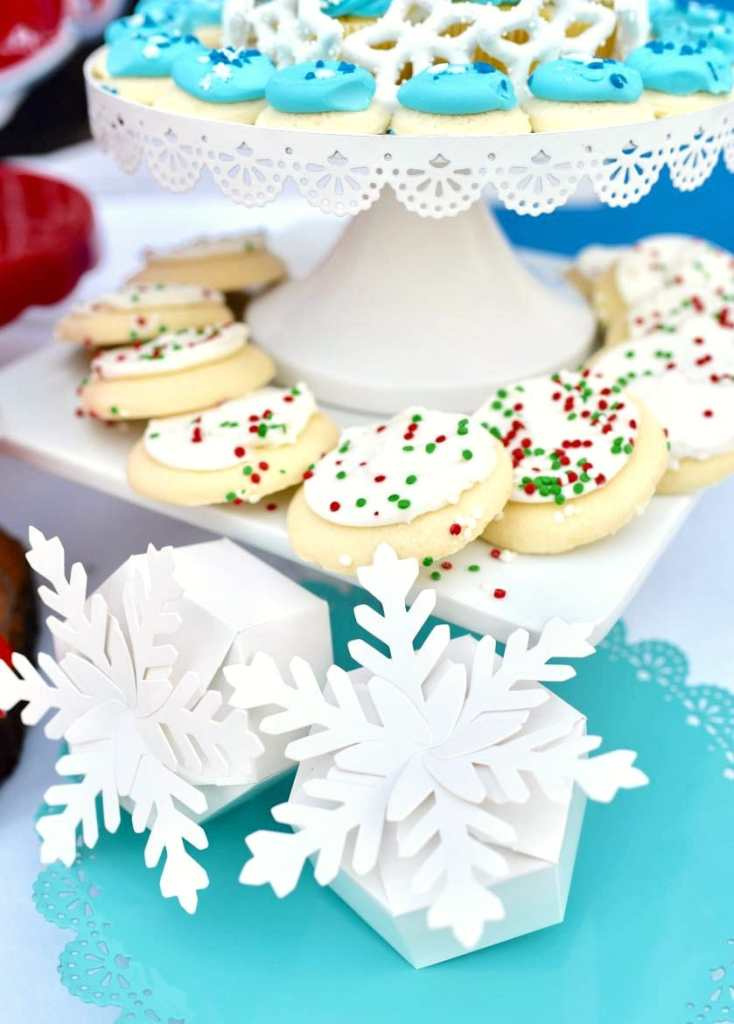 Snowflake boxes at Rudolph the Red-Nosed Reindeer party