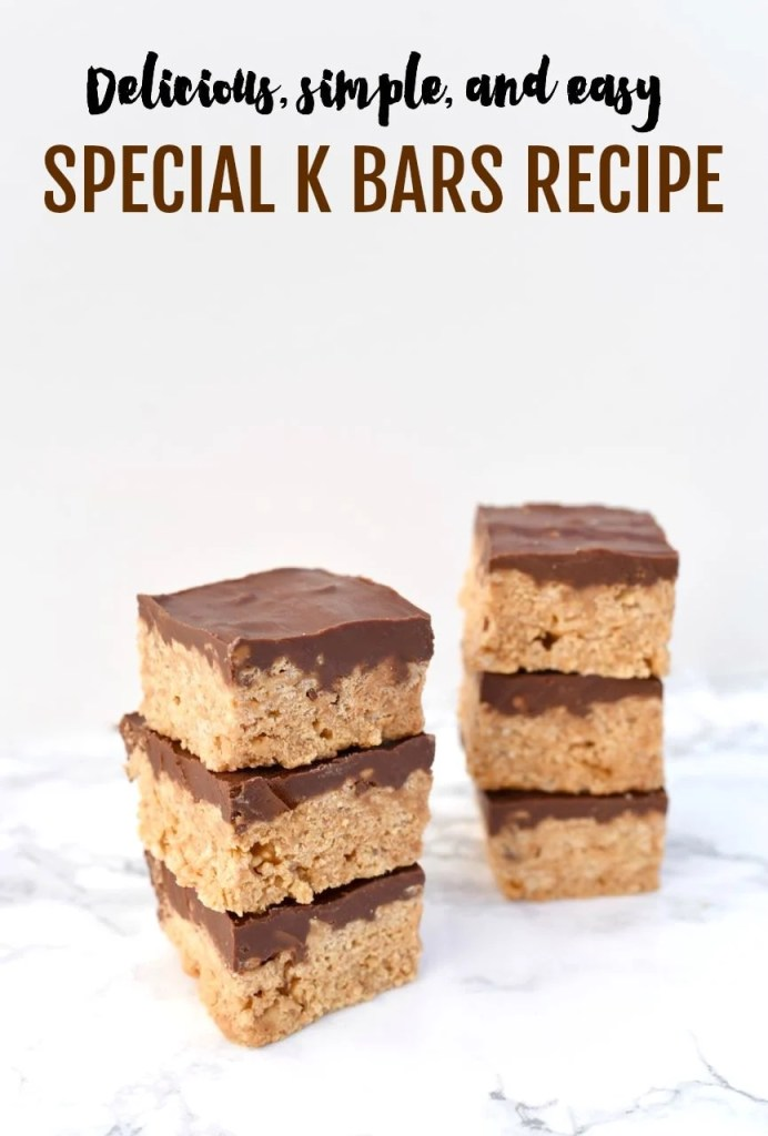 These Special K bars are always a hit and are such a quick and easy dessert! With just a few ingredients and a few minutes you'll be enjoying these delicious Special K bars, also known as Scotcheroos.