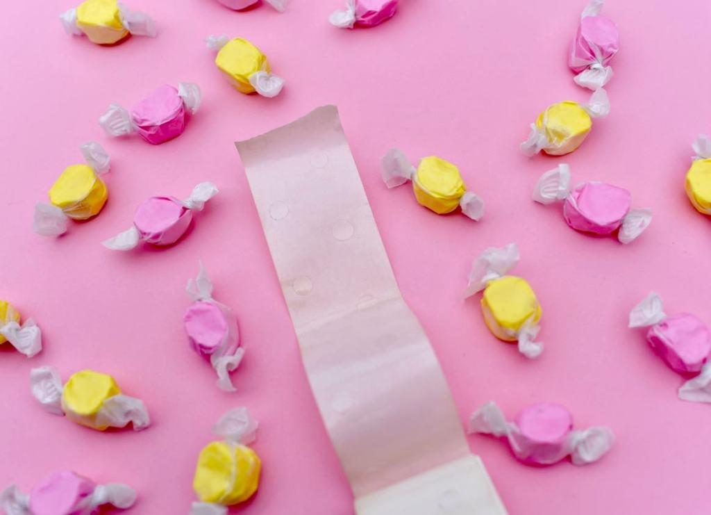 Use glue dots on free printable valentine card
