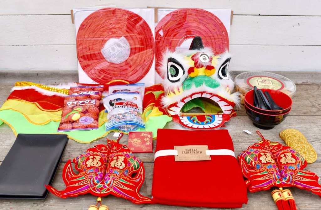 Chinese New Year party decorations from World Market