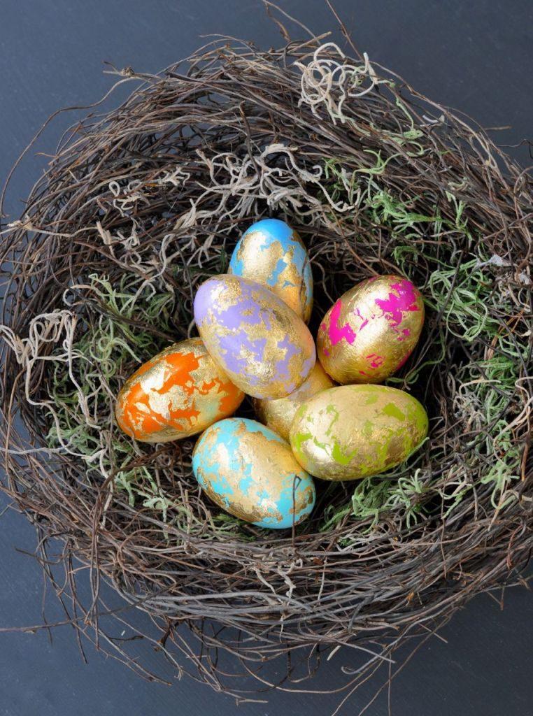 DIY Gold Leaf Easter Eggs