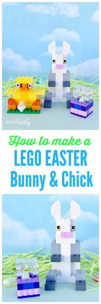 How to make a LEGO Easter bunny, chick, and basket. Make these easy LEGO Easter figures with some basic bricks- the perfect Easter kids craft!