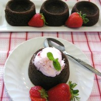 Chocolate Cake Cup Shells