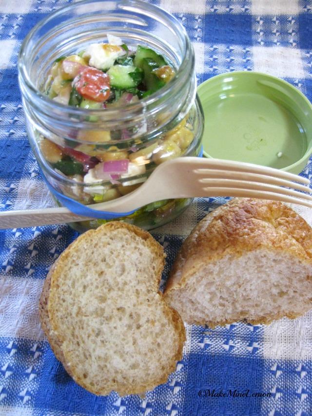 Greek Salad Lunch in a Jar