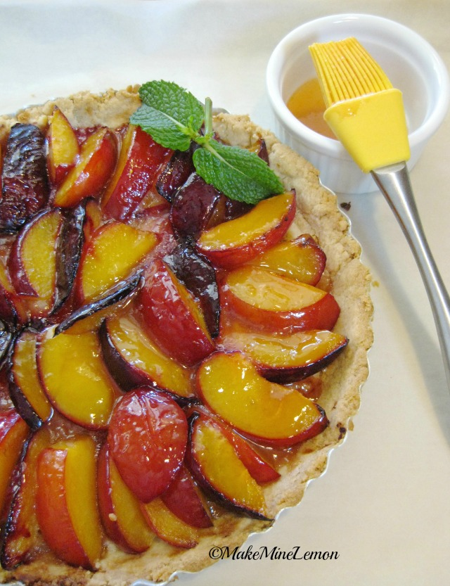 Glazed Plum Tart