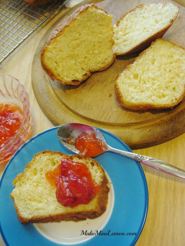 Basic Brioche with Strawberry Jam