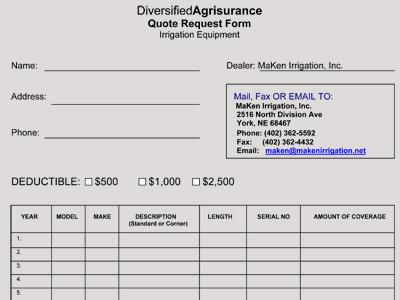 Insurance  Finance - MaKen Irrigation, Inc