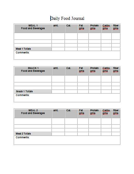 food log sheet - Maggilocustdesign - food journal sample