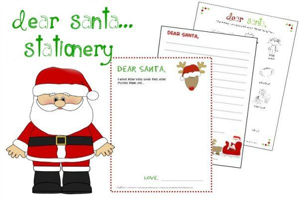 Dear Santa Stationery (printables) - Makeovers and Motherhood