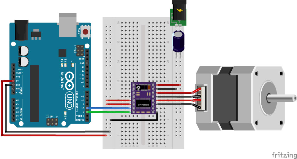 How to control a stepper motor with DRV8825 and Arduino (4 examples)
