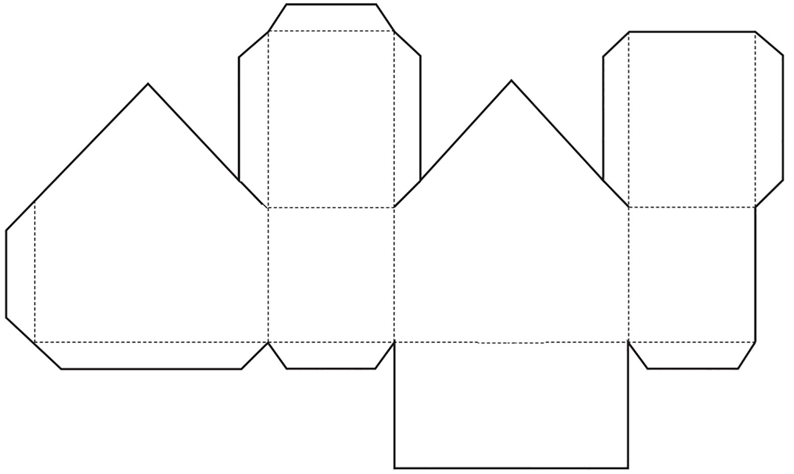 Printable Paper House Template - Costumepartyrun