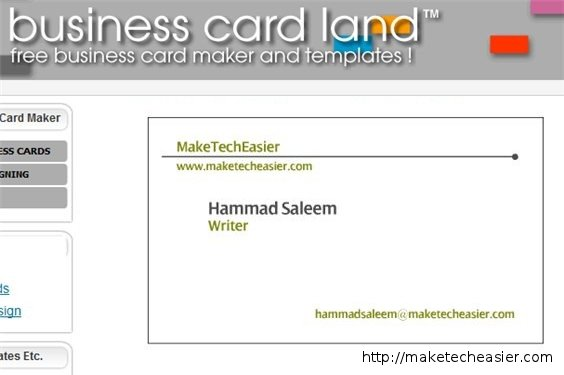 6 Online Tools To Create Business Cards