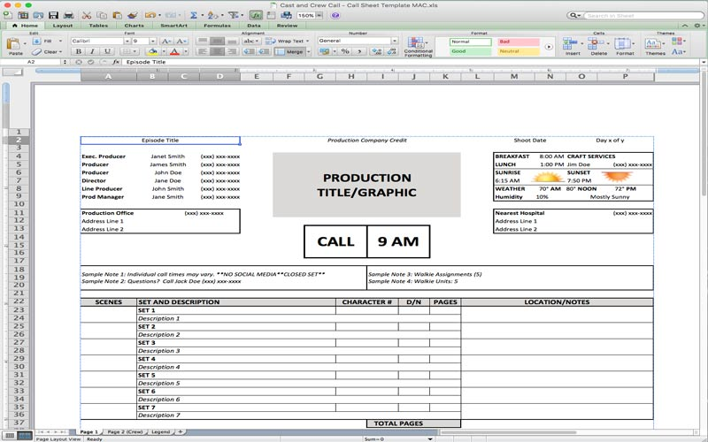5 Useful Microsoft Excel Templates for Indie Film/TV Production