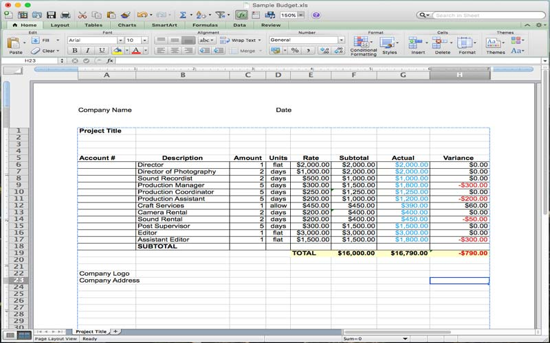 5 Useful Microsoft Excel Templates for Indie Film/TV Production - sample production schedule template