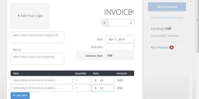 4 Online Tools To Instantly Create Invoices For Free - create a invoice