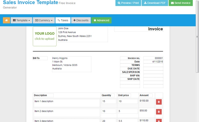 4 Online Tools To Instantly Create Invoices For Free - create invoices online