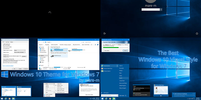 Get and Install Windows 10 Theme for Windows 7 - Make Tech Easier