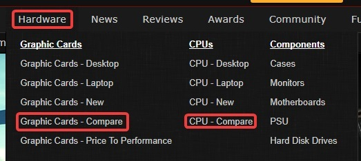 How To Easily Compare Different Processors or Graphics Cards - Make