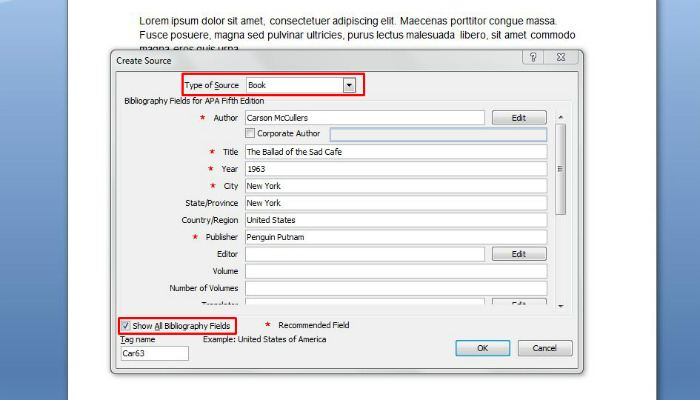 How to Automatically Generate Bibliographies and Citations in Word