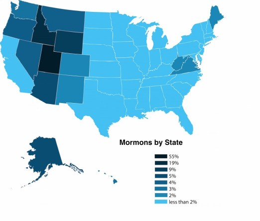 Mormons by State