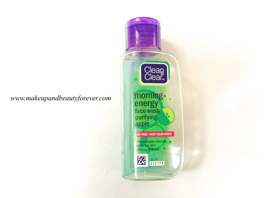 Clean and Clear Morning Energy Face Wash Purifying Apple Review 2