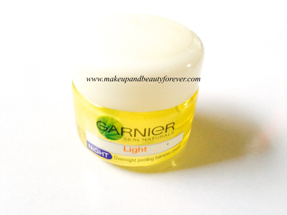 Garnier Skin Naturals Light Night Overnight Peeling Fairness Cream Review 6