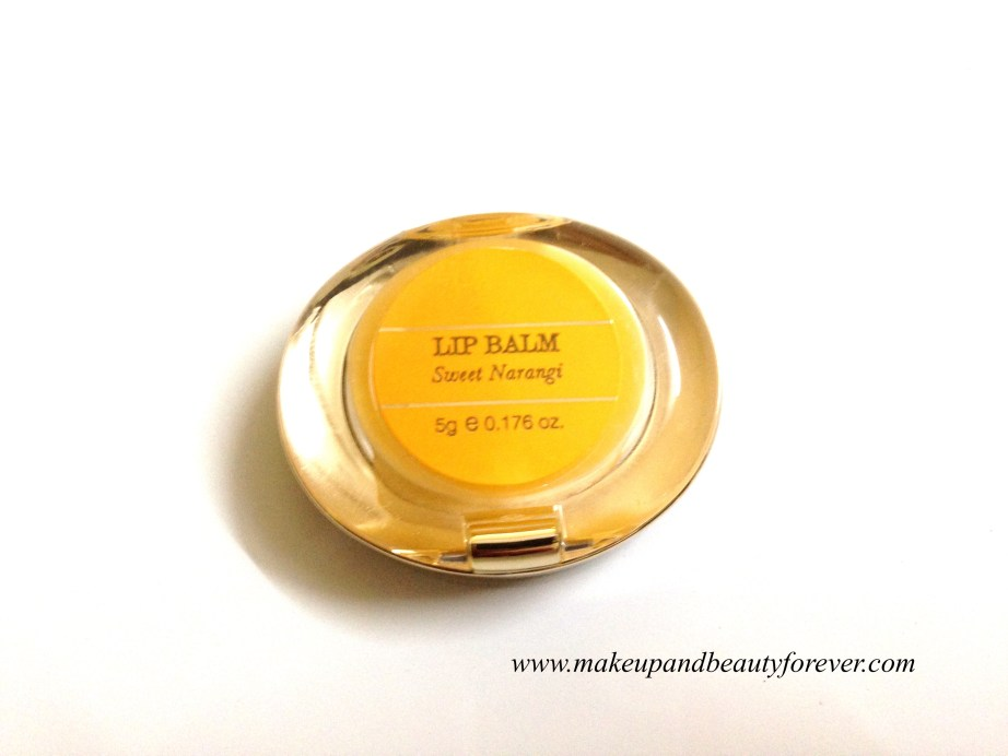 Forest Essentials Luscious Lip Balm Sweet Narangi Juice Review India