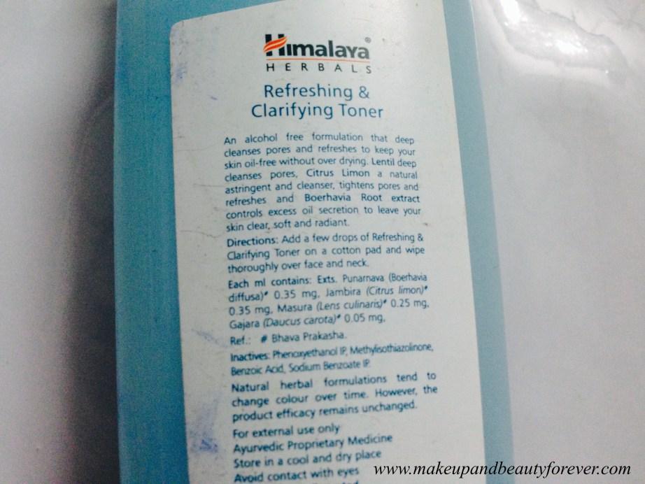 Himalaya Herbals Refreshing and Clarifying Toner Review 5
