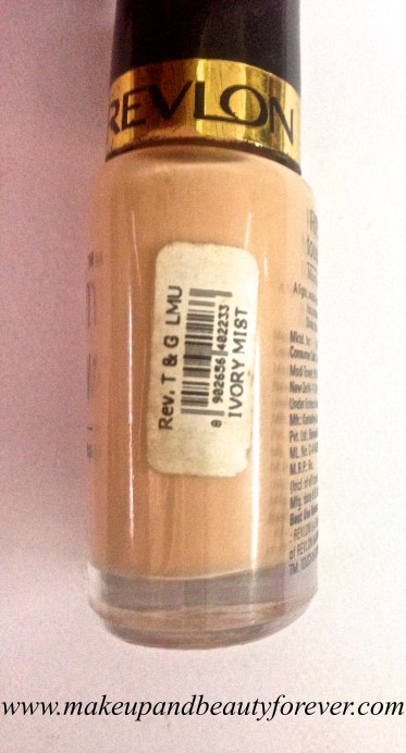 Revlon Touch and Glow Moisturising Makeup Foundation Review swatch 1
