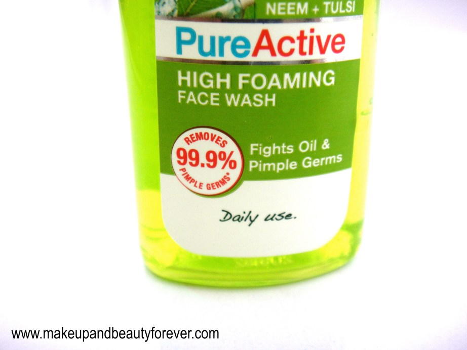 Garnier Pure Active Neem and Tulsi High Foaming Face Wash Review 1