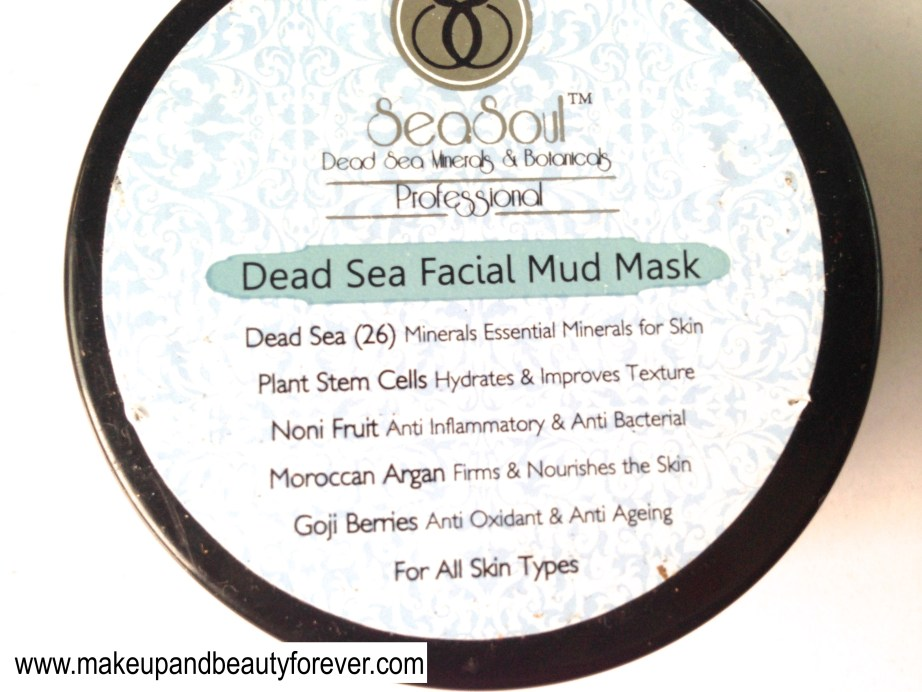 SeaSoul Dead Sea Facial Mud Mask Review beauty blog