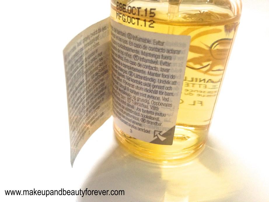 The Body Shop Vanilla Eau de Toilette Review MBF India