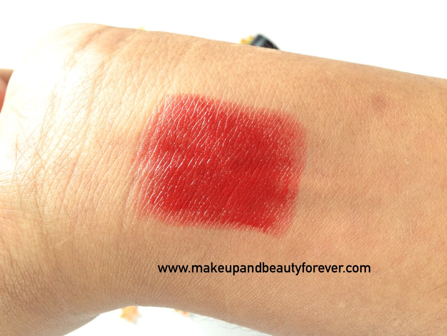 Faces Go Chic Lipstick Poppy Red 411 Review Swatches Price