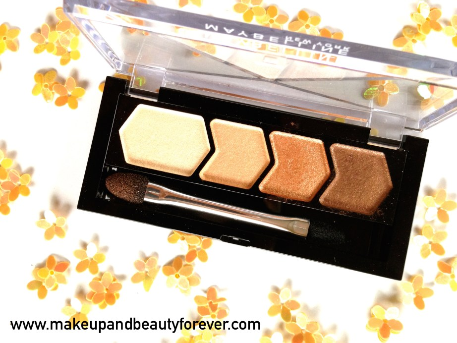Maybelline Eyestudio Diamond Glow Eye Shadow Quad 01 Copper Brown Review Swatches Price Details Indian Makeup Blog